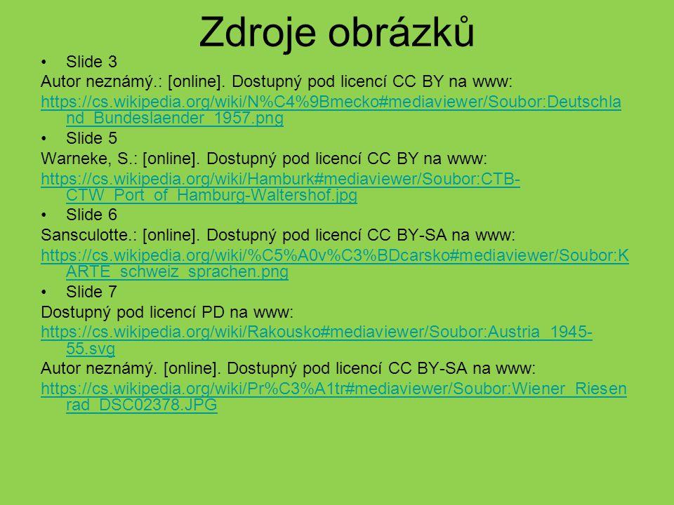 Zdroje obrázků Slide 3. Autor neznámý.: [online]. Dostupný pod licencí CC BY na www: